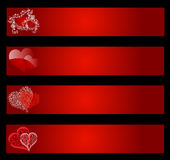 Valentines banners Royalty Free Stock Photography