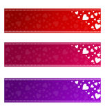 Valentines banners - vector Royalty Free Stock Image