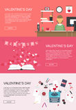 Valentines Banners Vector Graphic Royalty Free Stock Photography