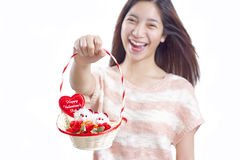 Valentines' Basket Royalty Free Stock Image