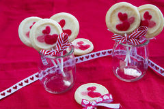 Valentines biscuit Royalty Free Stock Images