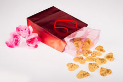 Valentines biscuits Royalty Free Stock Photos