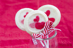 Valentines biscuits Stock Images