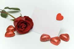 Valentines blank card royalty free stock photos
