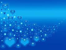 Valentines blue background Stock Photo