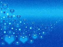 Valentines blue background Royalty Free Stock Photo