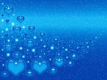 Valentines blue background. For design artworks Royalty Free Stock Photo