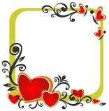 Valentines border Stock Images