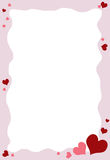 VALENTINES BORDER. A little heart for Valentines day border, background Stock Photo