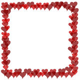 Valentines Border - Overlapping Hearts Stock Photo