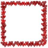 Valentines Border - Overlapping Hearts Stock Photo