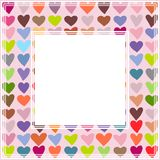 Valentines border-01. Romantic border with hearts. Valentines Day illustration. Design element for photo frame and romantic decorations stock illustration