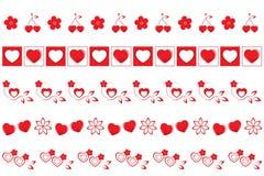 Valentines borders set #2 royalty free illustration