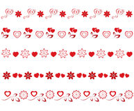 Valentines borders set Royalty Free Stock Photo