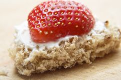 Valentines Bread and Strawberry Royalty Free Stock Photo