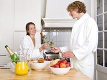 Valentines breakfast Stock Image