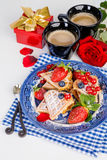 Valentines breakfast Royalty Free Stock Photos