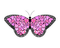 Valentines butterfly Stock Images