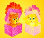 Valentines cadeau, illustration de vecteur   Photographie stock libre de droits