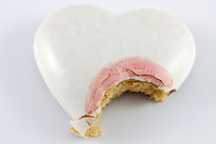 Valentines cake heart Stock Photos
