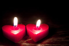 Valentines Candles Royalty Free Stock Images
