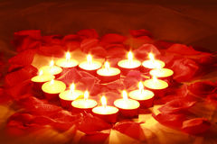 Valentines candles Royalty Free Stock Photo