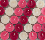 Valentines Candles Diagonal Across Image Royalty Free Stock Images