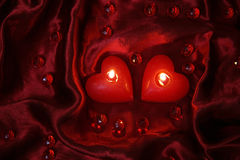 Romantic Valentine candles Royalty Free Stock Photos