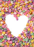 Valentines Candy. With a heart in the middle Stock Photo
