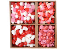 Valentines candy in a box Royalty Free Stock Photo
