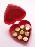 Valentines candy box - open Royalty Free Stock Images