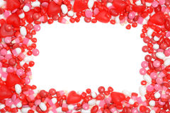 Valentines candy frame Royalty Free Stock Images