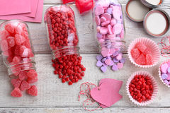 Valentines Candy Still Life Stock Photo
