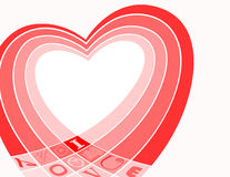 Valentines card. Background for your valentines messages Stock Photos