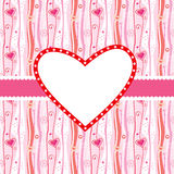 Valentines card. Valentines greeting card with absract hearts in pink royalty free illustration
