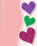 Valentines card. Happy Valentine's Day with hearts Royalty Free Stock Photo