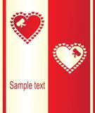 Valentine's card Royalty Free Stock Photos
