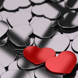 Valentines Card Background Stock Photography