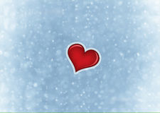 Valentines card background with red heart Stock Photography