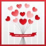 Valentines card design with heart flower. Love celebration vector design royalty free illustration