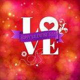 Valentines card design for a sweetheart Royalty Free Stock Images