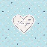 Valentines card Stock Image