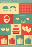 Valentines Card in Flat Style Royalty Free Stock Image