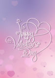 Valentines Card - Happy Valentines Day - Purple Pink Stock Images