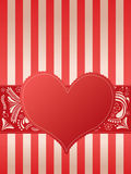 Valentines Card with heart Stock Photos