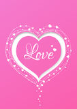 Valentines card heart Royalty Free Stock Image