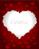 Valentines card with heart shape Stock Photos