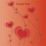 Valentines card with hearts Royalty Free Stock Photos