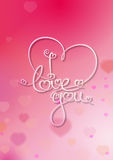 Valentines Card - I Love You - Pink Royalty Free Stock Images