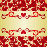 Valentines Card or a label. Stock Photos